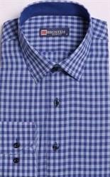 Большая клетчатая рубашка со льном 8LG9-4g BROSTEM