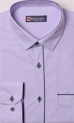 Сиреневая рубашка с модалом