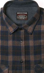 Коричневая фланелевая рубашка