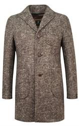 Коричневое пальто в елочку ВЕНСЕН SF