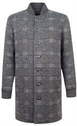 Демисезонное широкое пальто со стойкой ЭРМЕН OSF