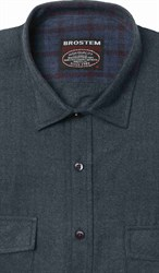 Полуприталенная фланелевая рубашка с шерстью KA9L5-2