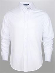 Белая трикотажная рубашка