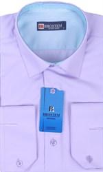 Рубашка из модала и хлопка Brostem 4708-HZ полуприталенная