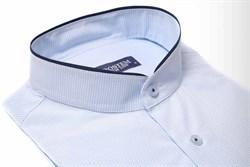 Рубашка с воротником-стойка
