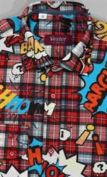 100% хлопок детская веселая рубашка