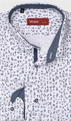 Рубашка полуприталенная VESTER 28114-07w-21