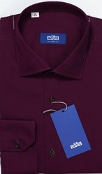 Баклажановая рубашка мужская