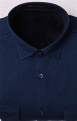 Однотонная рубашка на флисе