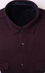Бордовая теплая рубашка