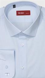 Большая голубая рубашка под запонки