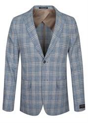 Светлый летний пиджак в клетку за 7850 руб