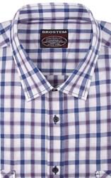 Большая рубашка в клетку короткий рукав