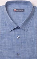Голубая летняя рубашка на толстяка
