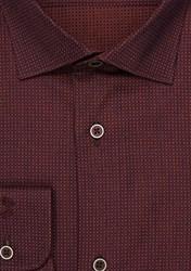 Бордовая рубашка хлопок VESTER