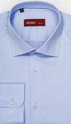 Элегантная мужская рубашка голубого цвета