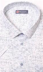 Большая рубашка мужская белая с рисунком