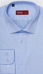 Голубая рубашка на высокий рост
