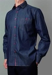 Джинсовая приталенная рубашка BROSTEM 8LBR65-1