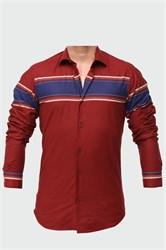Сорочка BAWER P-2017-09-p приталенная хлопок 100 %
